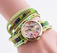 Damen Quarz beiläufige Uhr Diamantarmband Armband Uhr der Wahl Bronzing eiffel