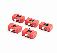 YS4 1-digit DIP Switch - Red + White (5 PCS)