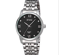 Men's Solid Stainless Steel Fashion Dress Watch Wrist Watch Cool Watch Unique Watch