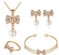 Lucky Doll Alloy / Imitation Pearl / Rhinestone / Rose Gold Plated Jewelry Set 4 pcs Party / Daily 1set