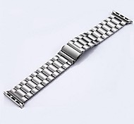 42mm Double Bow By The Insurance Deduction Stainless Steel Solid Metal Watch Band for Apple watch