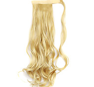 Wig Golden 45CM Synthetic High Temperature Wire Curly Horsetail Color 86