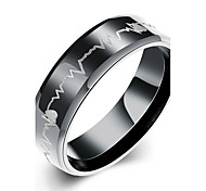 Ring Steel Fashion Black Jewelry Daily 1pc