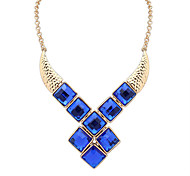 Necklace Pendant Necklaces Jewelry Wedding / Party / Daily / Casual Alloy / Acrylic Dark Blue / Blue / Gray 1pc Gift