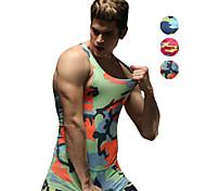 Vansydical Men's Quick Dry Fitness Tops White / Green / Red / Gray / Black / Blue / Light Green / Orange