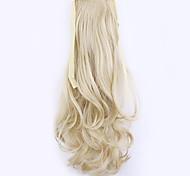 longitud 50 cm de lino fábrica de la venta directa de tipo cola de caballo se unen rizo de pelo cola de caballo (color 22)