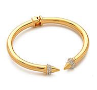 Fashion Wwomen's Inlaid Crystal Rivet Bracelet Bangles Titanium Steel Bracelet