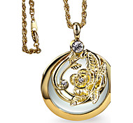 Necklace Pendant Necklaces Jewelry Wedding / Party / Daily / Casual / N/A Round Fashion / Vintage / Bohemia Style / Punk StyleWhite /