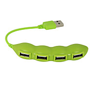 USB 2.0 4 Ports/Interface USB Hub Lovely Vegetable Bean 11*2*1
