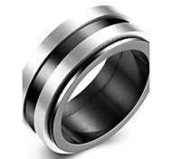 Ring Steel Classic Fashion Black Jewelry Daily 1pc
