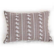 Knitted  Wapiti Cushion Cover-Grey