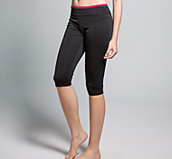 Yoga Pants Crop Breathable / Sweat-wicking Natural Sports Wear Red / Black Women's OthersYoga / Climbing