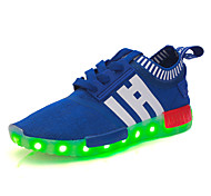 Boys' Led lighting shoprt Shoes Outdoor / Casual Tulle Fashion Sneakers Black / Red / Royal Blue / Navy
