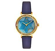 Women's Fashion Watch Quartz Imitation Diamond Leather Band Black Blue Pink Beige Khaki Brand JULIUS