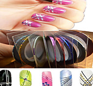 1pcs 1mm 20m Nail Art  Stripe Tape Line Sticker Nail Art Beauty Decoration Tools Random Delivery NC124