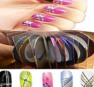 1pcs 1mm 20m ongles ligne de bande art de bande autocollant nail art beauté décoration outils nc124 de livraison aléatoire