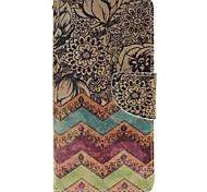 fleur d'onde porte-cartes porte-monnaie en cuir PU de téléphone pour huawei p9 / p9lite