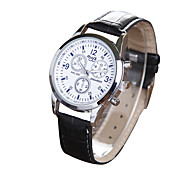 Men's Fashion Belt Watch Three Eye Six Needle Watches Quartz Watches Cool Watch Unique Watch