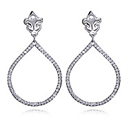 Earring AAA Cubic Zirconia Oval Drop Earrings Jewelry Women Fashion / Vintage / Bohemia Style / BirthstonesWedding / Party / Daily /