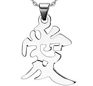 Unisex Fashion Love Style Steel Pendant for Necklace