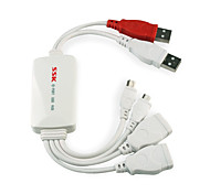 SSK SHU016 4 Port HUB USB 2.0 High Speed USB HUB for Cellphone