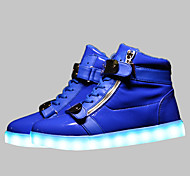 LED Shoes USB Charging Luminous Shoes Men's Casual Shoes Fashion Sneakers Black / Blue / Red / White