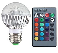 3W E26/E27 Bombillas LED de Globo A50 1 LED de Alta Potencia 100-200 lm RGB Control Remoto AC 85-265 V 1 pieza