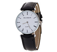 Men's Luxury Black/Brown Leather Band White Case Military Sports Style Watch Jewelry Wrist Watch Cool Watch Unique Watch