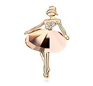 High Quality Crystal Girl Brooch for Wedding Party Lady