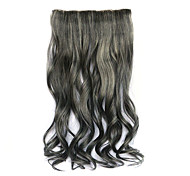 lunghezza 60 centimetri nero parrucca di colore misto dei capelli ricci sintetici (colore 2/613)