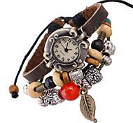 Mulheres Relógio de Moda Bracele Relógio Digital Couro Banda Boêmio Marrom marca