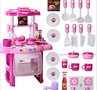 Portable Electronic Kids Kitchen Cooking Boy Toy Play Set Light Sound