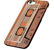caso ultra sottile di legno nastro magnetico protettivo copertura posteriore dura iphone PC per il iPhone se 5s / iPhone / iPhone 5