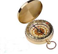 Outdoor-Camping Wandern tragbare Messing Tasche goldene Kompass Navigation h1e1