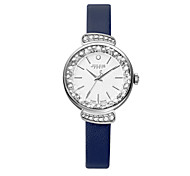 Julius® New Arrival Rhinestone Korea Fashion Waterproof Women Watch Leather Belt Watch JA-866
