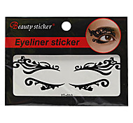 Abstract Fashion Lace Hollow Black Face Sticker YT-010