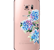 Для Samsung Galaxy S7 Edge Прозрачный / С узором Кейс для Задняя крышка Кейс для Цветы Мягкий TPUS7 edge / S7 / S6 edge plus / S6 edge /