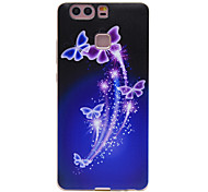 TPU Material Color Hollow Butterfly Pattern Soft Phone Case for Huawei P9/P9 Lite