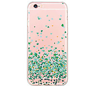 For iPhone 6 Case / iPhone 6 Plus Case Ultra-thin / Transparent / Pattern Case Back Cover Case Heart Soft TPU for iPhone 6s Plus/6 Plus