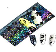 1pcs 100*4CM Transparent Halloween Pumpkin Ghost Lovely Aminal Image Nail Art Glitter Stickers Nail Decoration HW01-04