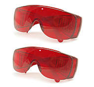 Grinigh Polycorbonate Safety Glasses with Fog and UV Resistance Lab or UV Treatment Goggles  Red Lens Color (Pack of 2)