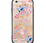 iPhone 6s Plus/6/iPhone 6s/6 TPU Soft  Flowers Back Cover