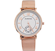 Couple Montre Tendance Quartz Alliage Bande Charme Or Rose Or Rose