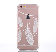 For iPhone 6 Case / iPhone 6 Plus Case Transparent / Pattern Case Back Cover Case Feathers Soft TPUiPhone 7 Plus / iPhone 7 / iPhone 6s