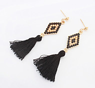 Earring Drop Earrings Jewelry Women Fashion / Bohemia Style Party / Daily / Casual 1 pair Light Green / Black / White / Orange