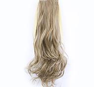 longitud 50 cm borwn fábrica de la venta directa de tipo cola de caballo se unen rizo de pelo cola de caballo (color 12/613)