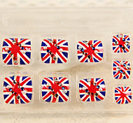 1set  British Style Union Jack Nail Finished Piece Toenails