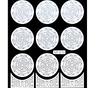 Nail Art Template Sticker-(NF318-White)