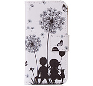 Dandelion's Promise PU leather with Stand Case for iPhone5/5S/SE(Assorted Colors)