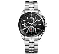 Men's Wrist watch Calendar Water Resistant / Water Proof Casual Watch Quartz Stainless Steel Band Silver